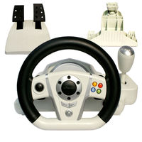 PS2.3/PC/X-INPUT 4in1 vibration wired steering wheel