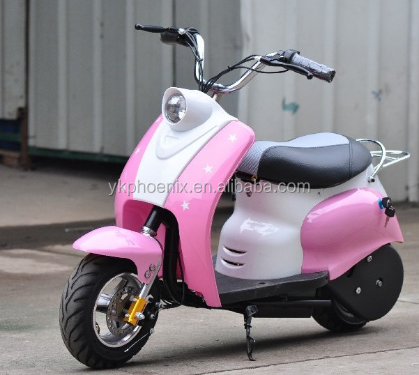 nouveau 350 w 2 roues mini enfants vespa scooter. Black Bedroom Furniture Sets. Home Design Ideas