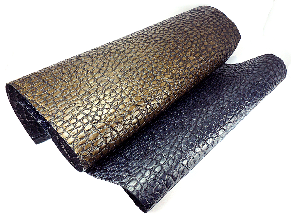 Classic Italian Crocodile Pattern Cow Embossed Genuine Leather