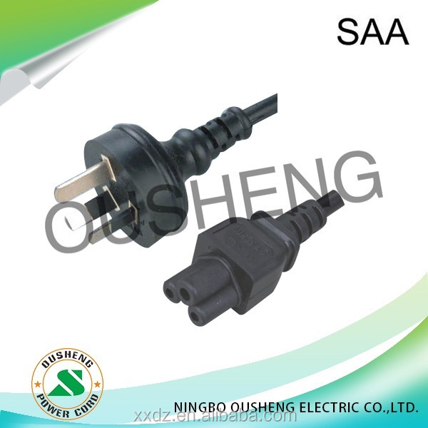 Australia AS/NZ 3112 Plug to IEC 60320 C5 Power Cord laptop
