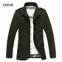 GUEQI Men jacket jean military army soldier cotton casual mens jacket, clothing Autumn and winter Mens jackets Asian size 8720