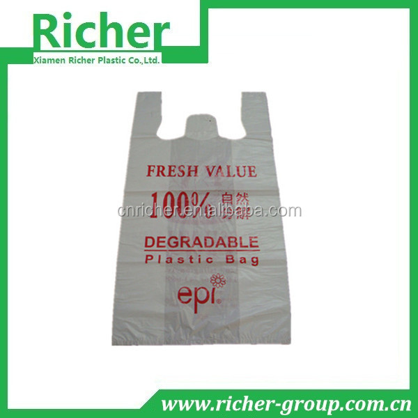 Hot sale high quality plastic colour t-shirt bags
