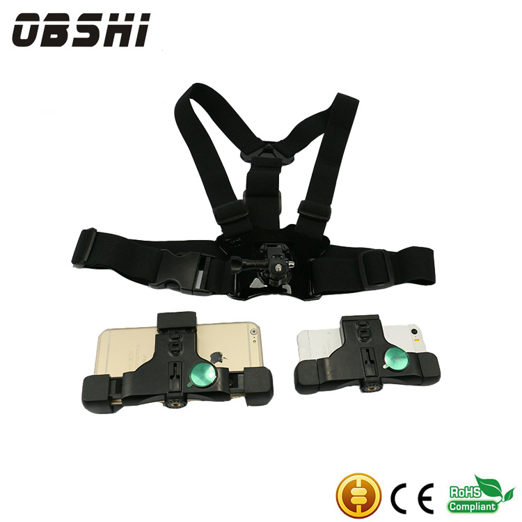 Hot selling universal chest strap mobile phone camera mount holder