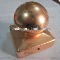 Copper Pyramid with Ball Decorative Wood Fence Post Caps 3.5""