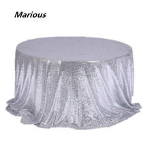 Hot sale gold sequin tablecloth for home table linen