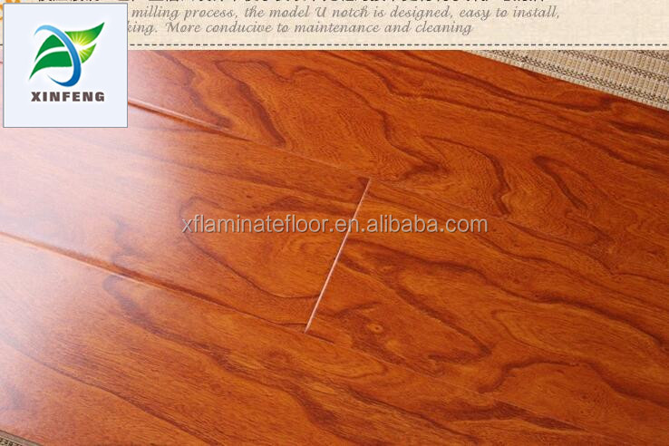 v-groove waterproof parquet laminate flooring 12mm