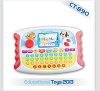 Plastic ABS TFT LCD Preschool Learning Machine Toy, Educational Toy Play Pad Laptop