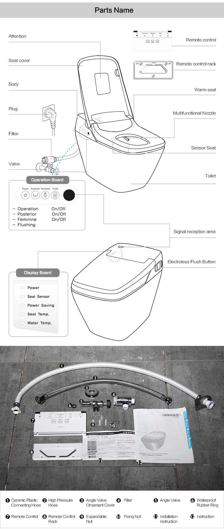 Factory price Automatic toilet for sale