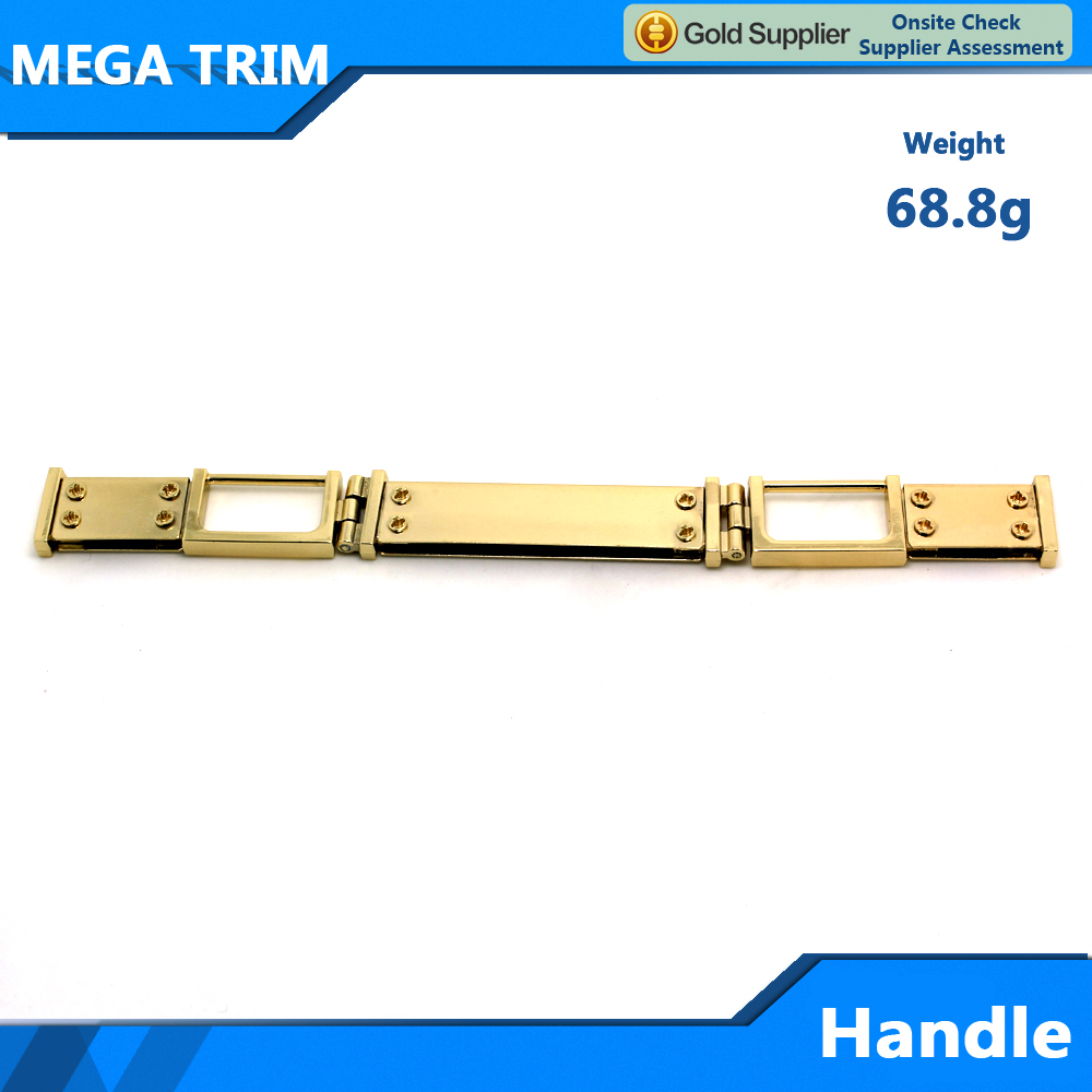 metal handle for handbag and leather bag metal handle consist of several sections with high quality