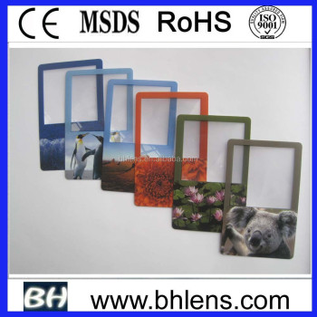 BHM-04 Fresnel Lens bookmark business card magnifier