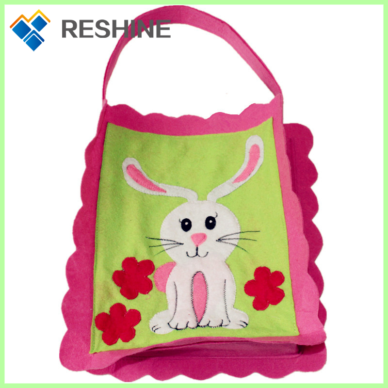 promotion and eco-friendly custom design silk print heat transfer felt pattern cartoon kids gift non-woven fabric bag
