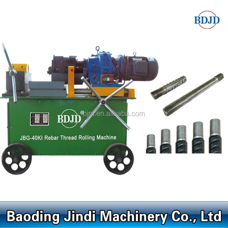 Rebar rolling machine/bar threading machine/screw making on rebar end