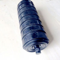 5 inch Dia Steel Troughing Roller Belt Conveyor Rubber Impact Idler