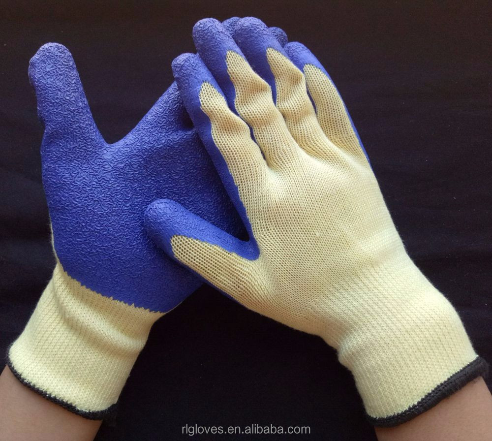 Nylon Glove black nylon fingerless gloves/flex latex gloves
