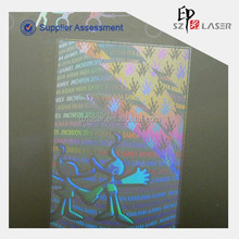 Hologram Laminating Pouch film for data, pictures, mechanical engineering drawings