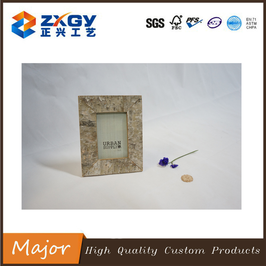 High quality natural weedtree personal wooden photo frame for deco