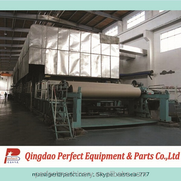 Waste paper recycling fourdrinier type gray cardboard making machine