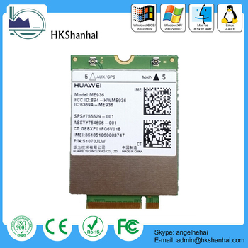 Hot Penta-band huawei me936 mini pci express 4g lte module band 20