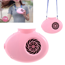 Rechargeable Battery Operated Mini Portable Cooling Necklace Fan