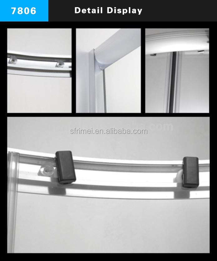 China Manufacturer Corner Enclosed Shower Cubicles Frosted Glass In Saudi Arabia With Acrylic Base