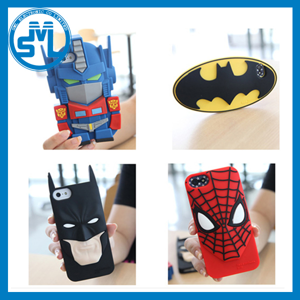 3D Superman Batman spiderman emboss silicone case for iphone 5 5s 6 6s 6 plus 6s plus
