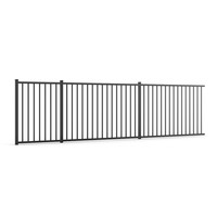 Anti Theft Powder Coated Steel Fence