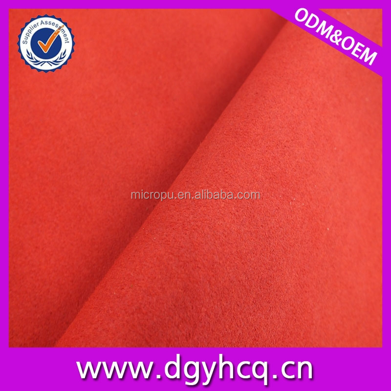 Colourful Artifial Suede Abrasion Resistance/Stretch Synthetic Leather