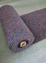 good underlay for carpet, recycled foam rubber with pe film to prevent moisture
