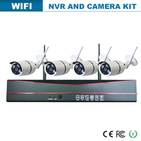 2016 new DC times 4ch wifi ip camera and wireless cctv dvr set