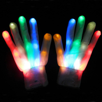 New Year Festival Led Glitter Flashing Gloves