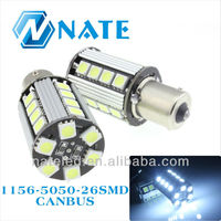 12V 100% Error free car Led Turn Light 1156 26SMD 13W Single Contact Bayonet Base Canbus Light