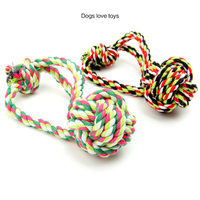 Factory wholesale private label pet toys for dog Color Stripe cotton rope 28CM rope pet toy