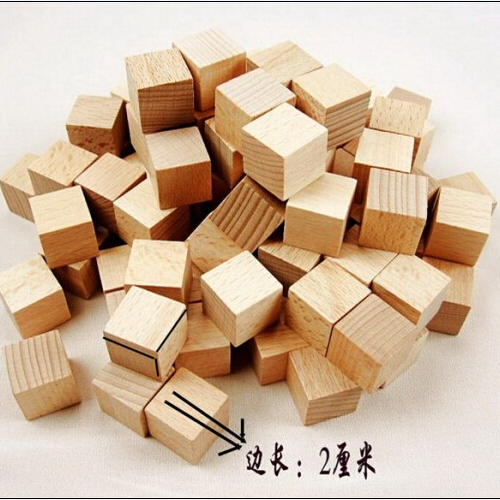 20mm beech wood square blocks unfinished craft wood cube for Where to buy wood blocks for crafts