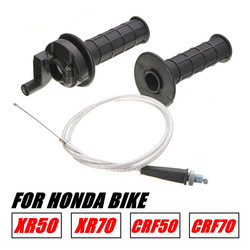 BIke Throttle Cable Handle Bar Grip Casing Set For Honda R50 CRF50 R70 CRF70