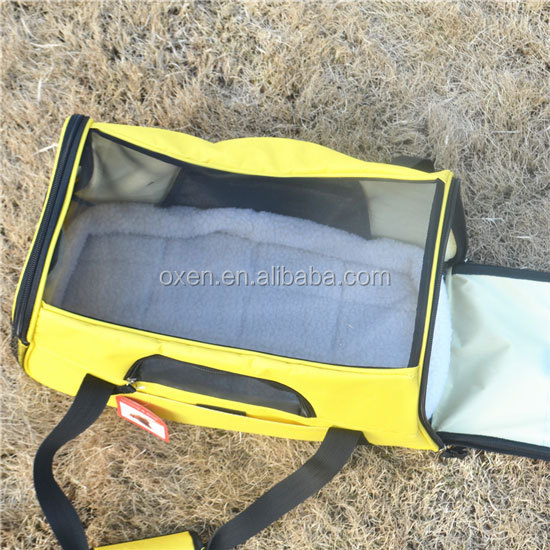 Pettom Pet Carrier for Dogs & Cats Comfort Airline Approved Travel Tote Soft Sided Bag Yellow