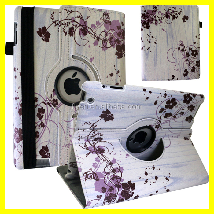 Leather 360 Rotating Case Cover For iPad 2/3/4, Air 1, Air 2 & Mini Wholesale Best Cartoon Case for Apple iPad Tablets
