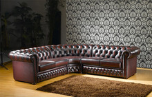 S181 Classic arab half moon leather sofa set