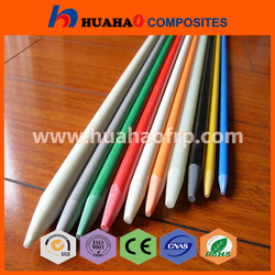 Hot Selling Rich Color UV Resistant fiberglass solid sticks 8mm with low price fiberglass solid sticks 8mm