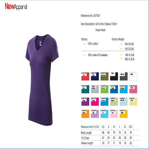 WOMEN V NECK OEM best quality T-shirts & Apparel at cheap price