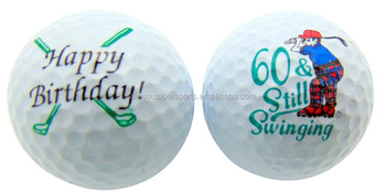Supply all kinds of Funny Printed Novelty Golf Balls