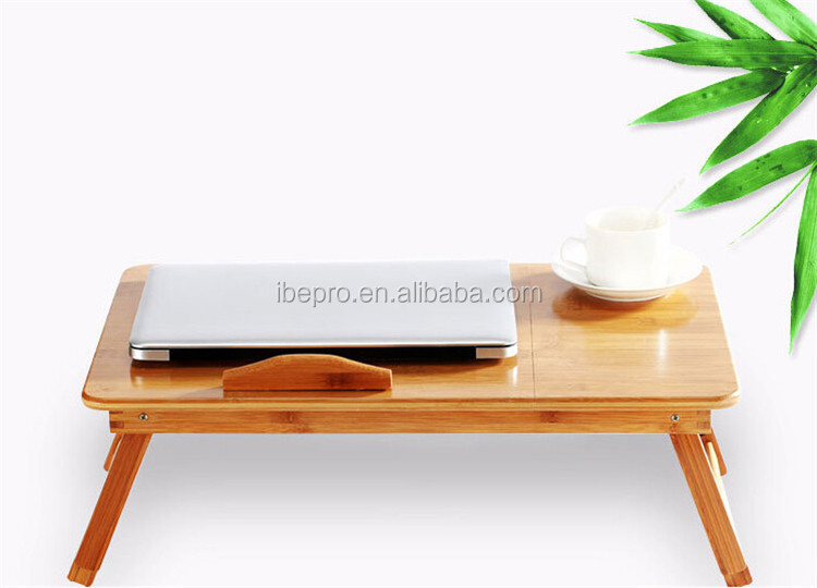 Adjustable PC table, bamboo computer table ,top grade laptop desk for bed