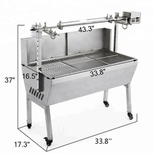 132 Lbs BBQ Spit Roaster Lamb Grill Electric