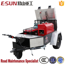 Trailer mounted infrared asphalt heater for street printing