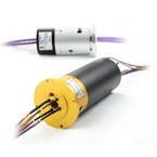 Through hole slip ring bore size 38.1mm(1.5'') 2-56 wires/circuits 380VAC 600Rpm