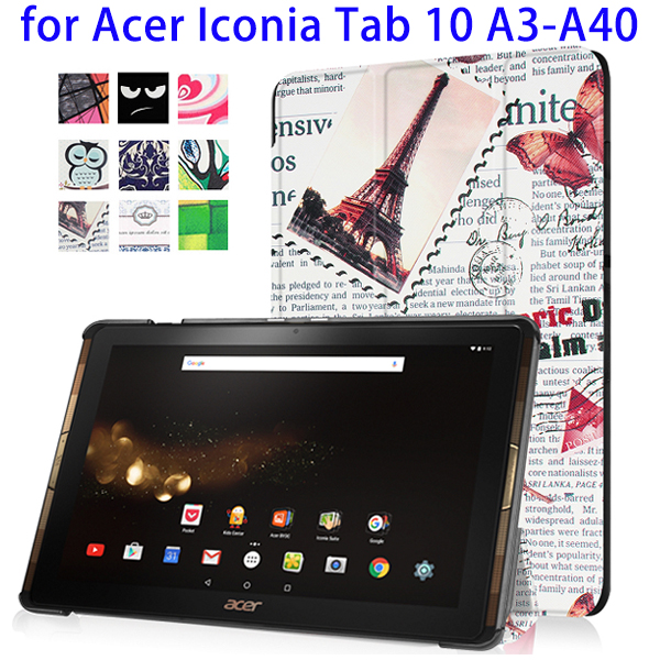 Alibaba Best Selling for Acer Iconia Tab 10 A3-A40, Foldable Flip PU Leather Case with Stylus Holder for Acer