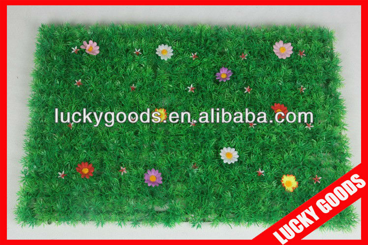 60x40cm indoor decorative plastic turf grass mat wholesale