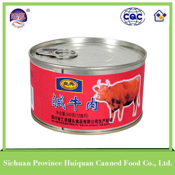 2014 hot selling products canned corned beef canned food 340g