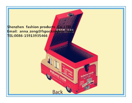house children cardboard suitcase made in China