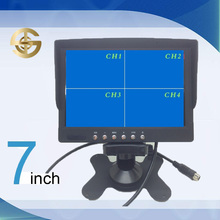 Sun visor back seat 7 inch 4 channel quad TFT LED car monitor with USB for rearview camera SJ-713-4