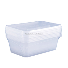 750ml Rectangle Plastic Disposable Food Container Sets With Lids